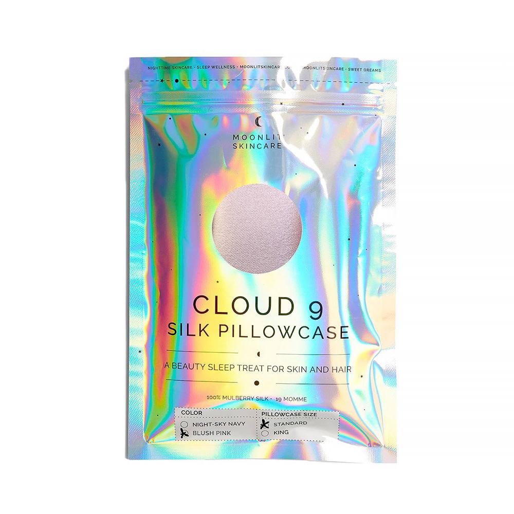 Moonlit Skincare Cloud 9 Silk Pillowcase - Standard - Blush Pink