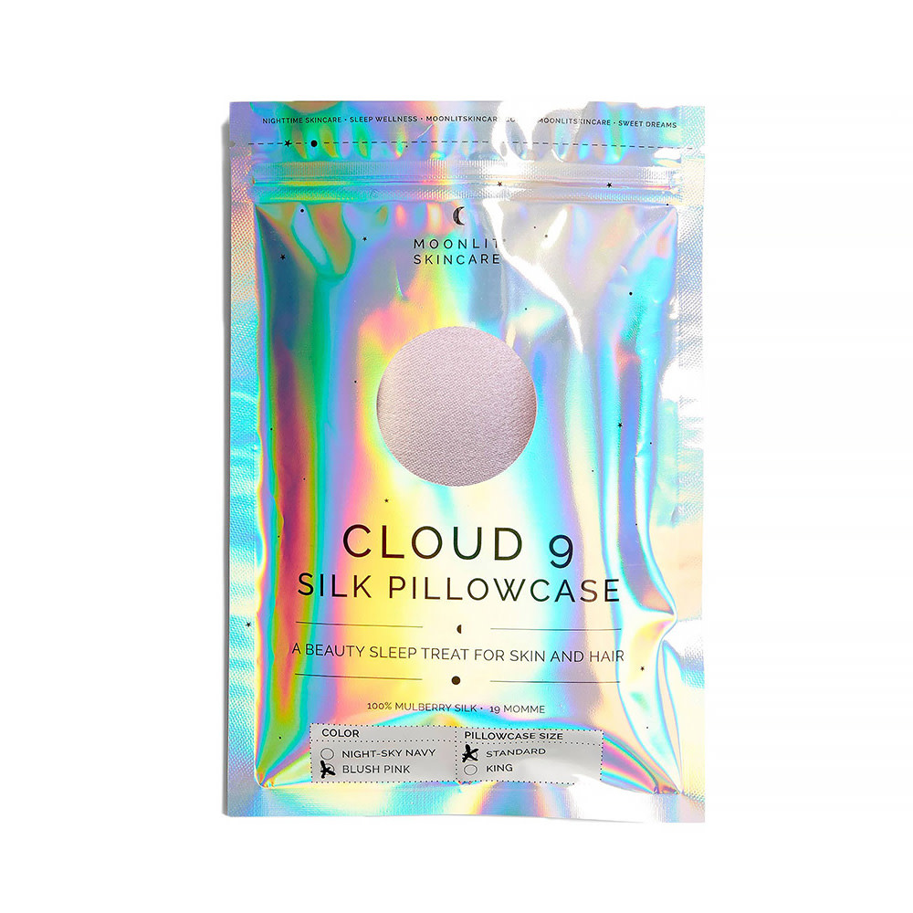 Moonlit Skincare Moonlit Skincare Cloud 9 Silk Pillowcase - Standard - Blush Pink