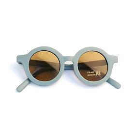 Tenth & Pine Tenth & Pine Round Retro Sunglasses - Sky Blue Matte