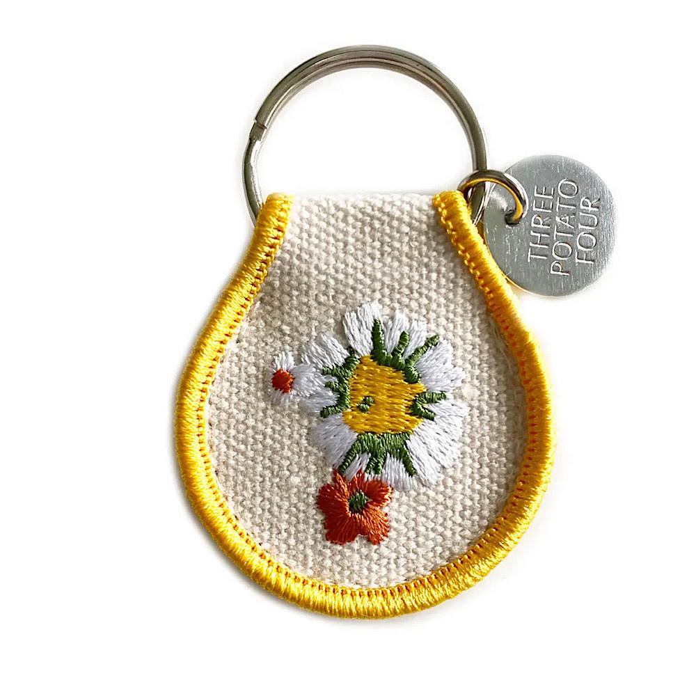 Three Potato Four Patch Keychain - Daisy Chain