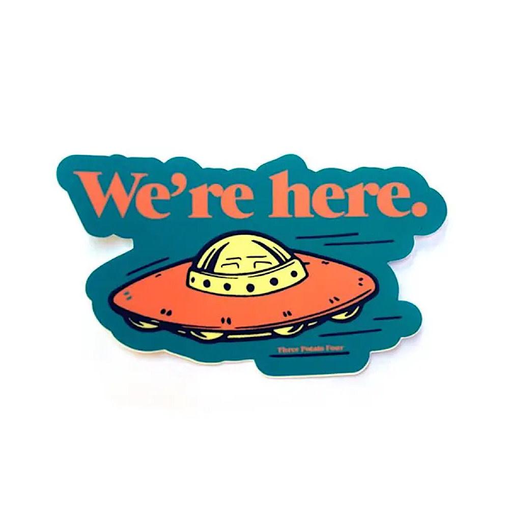 Three Potato Four Sticker - We're Here
