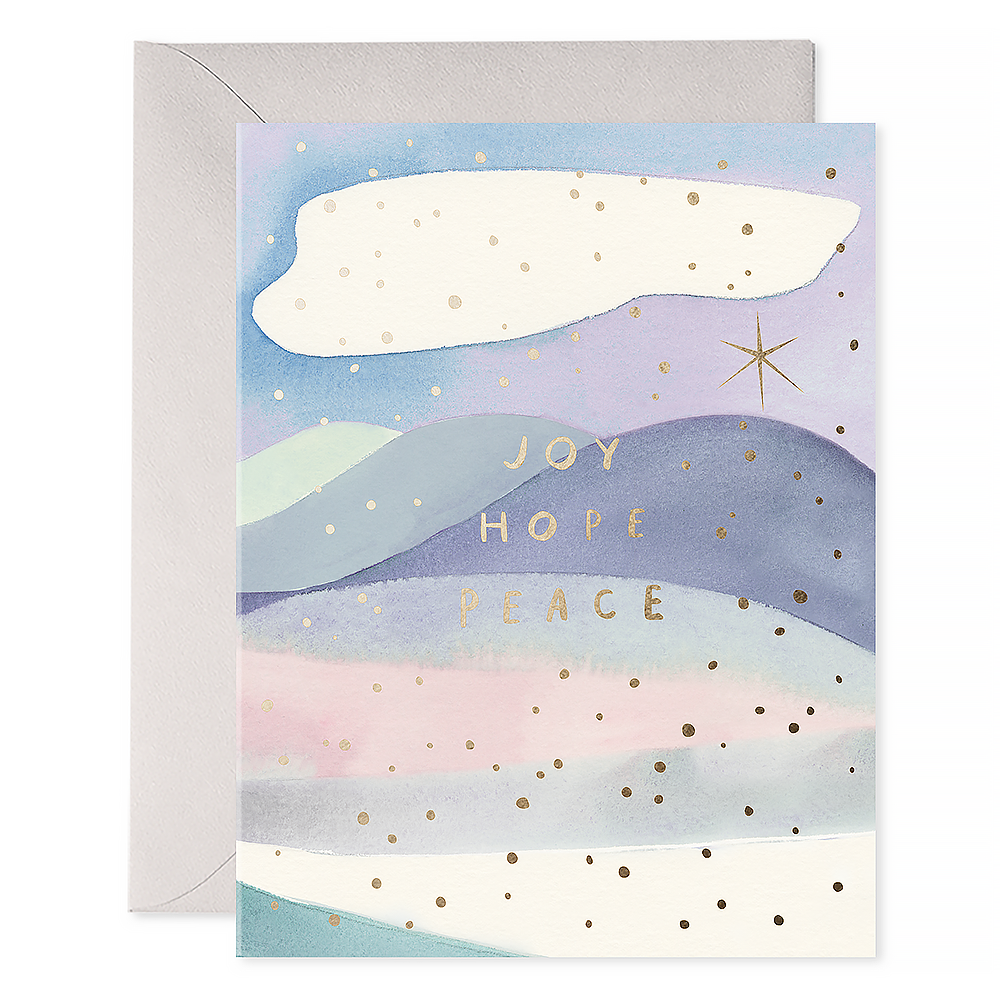 E Frances Joy Hope Peace Card