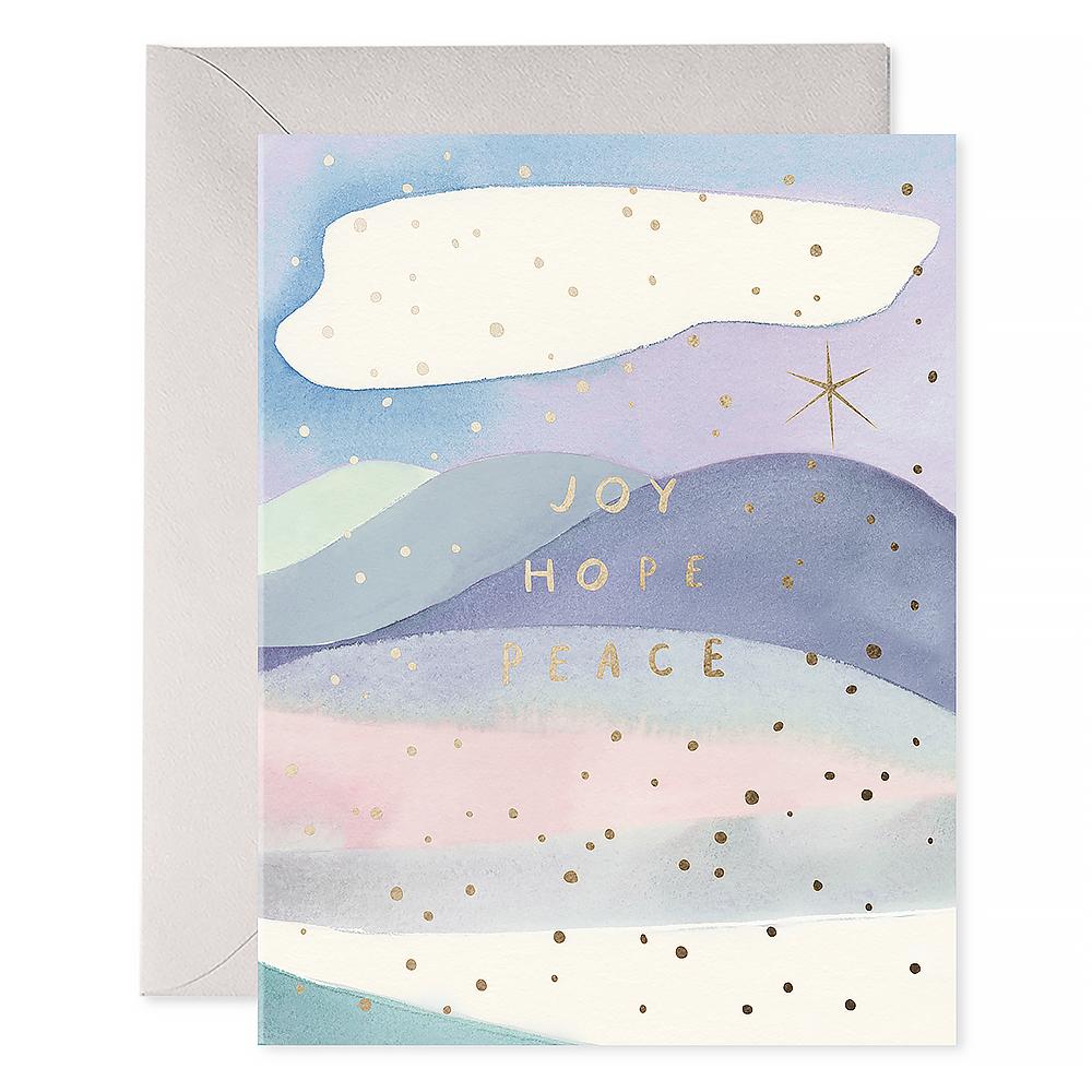 E Frances Paper E Frances Joy Hope Peace Card