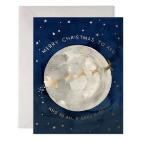 E Frances Paper E Frances Santa Moon Card