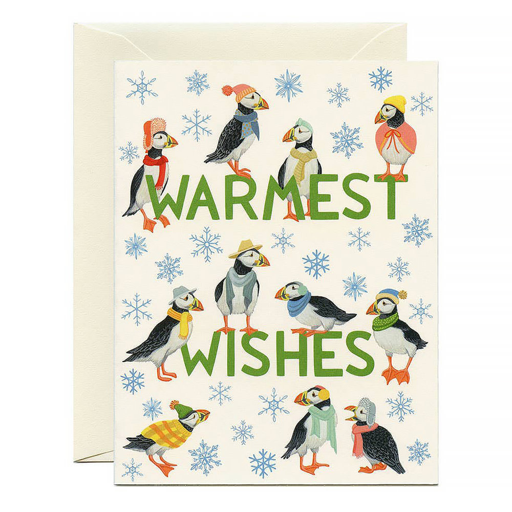 Yeppie Paper Puffins Holiday Card
