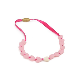 Chewbeads Chewbeads Spring Heart Glow-in-the-dark Jr Necklace Bubble Gum