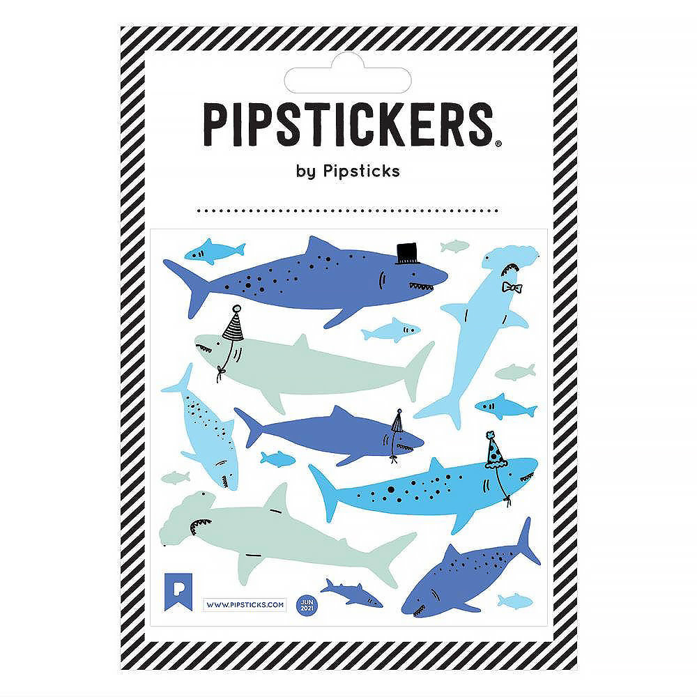 Fuzzy Shiver of Sharks Stickers