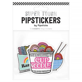 Pipsticks Ramen Love With You Vinyl Collection Stickers