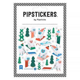 Pipsticks Sledding Yetis Stickers