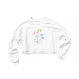 cinder + salt Cinder + Salt Crop Sweatshirt - Wildflowers