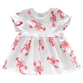 Jennifer Ann Jennifer Ann Organic Dress - Lobster