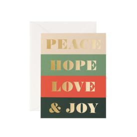 Rifle Paper Co. Rifle Paper Co. Card - Peace & Joy