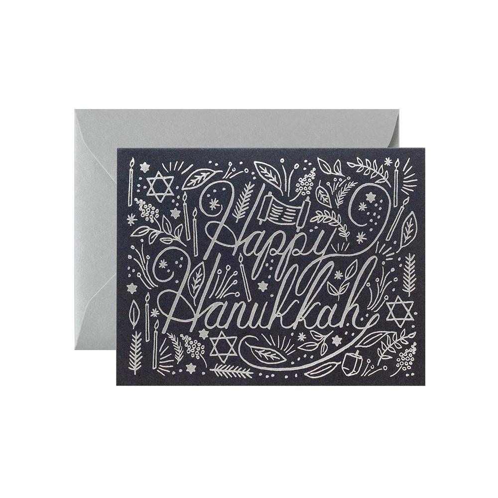Rifle Paper Co. Rifle Paper Co. Card - Silver Hanukkah