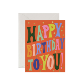 Rifle Paper Co. Rifle Paper Co. Card - Groovy Birthday