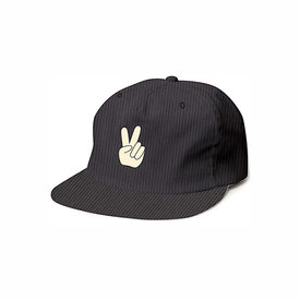 Tiny Whales Tiny Whales Peace Y'all Snap Back Hat - Black Corduroy