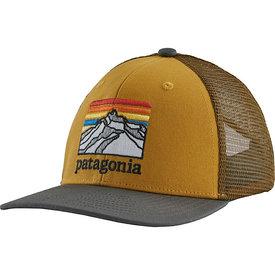 Patagonia Patagonia Trucker Hat Kids - Line Logo Ridge Buckwheat Gold