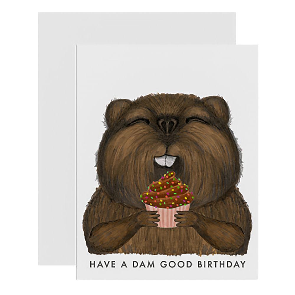 Dear Hancock Card - Beaver Birthday