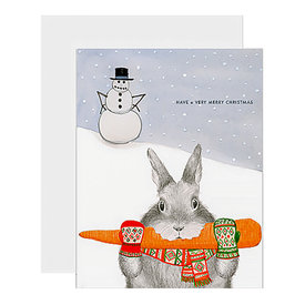 Dear Hancock Dear Hancock Card - Bunny Stealing Carrot