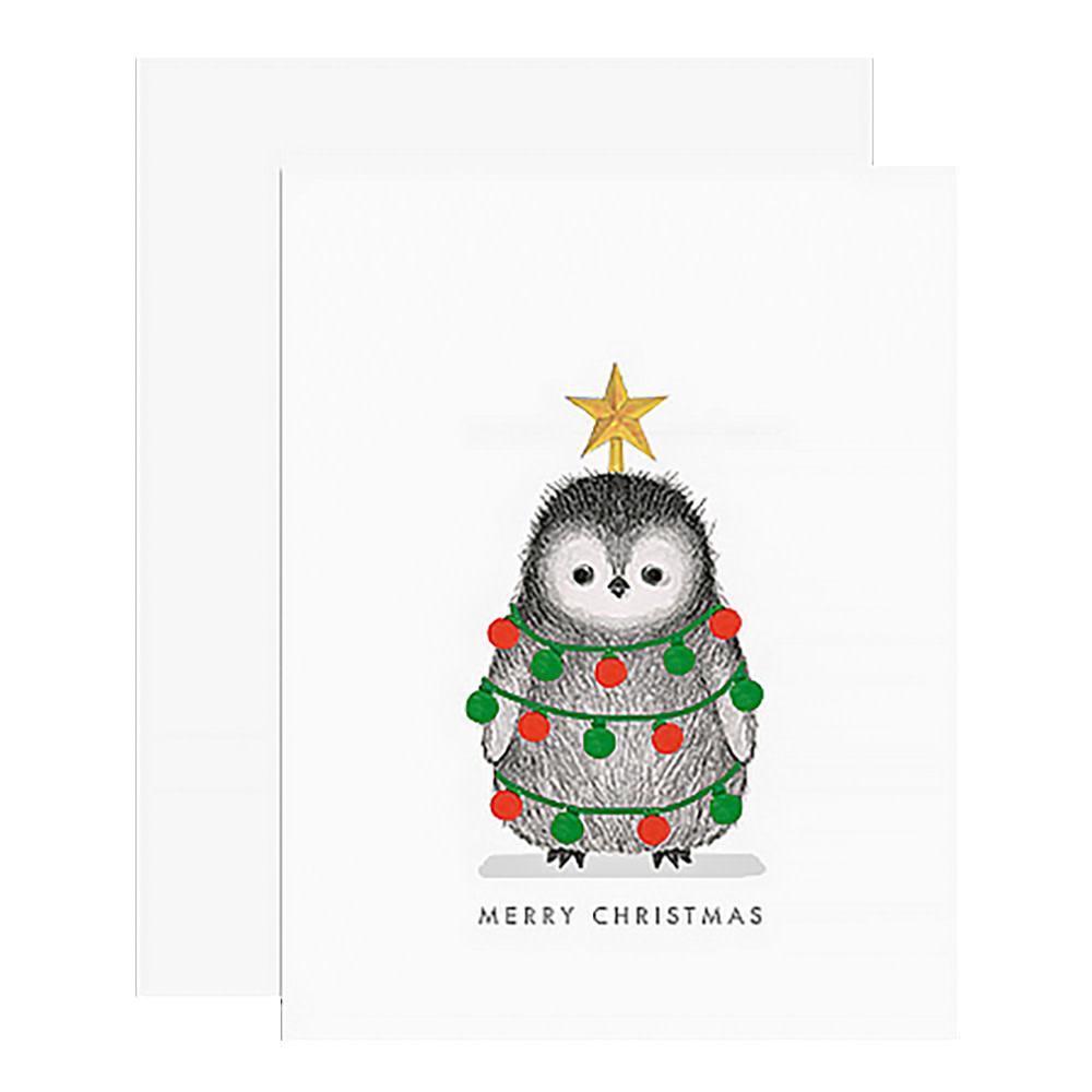 Dear Hancock Card - Decorated Penguin