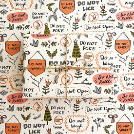 Abbie Ren Illustration Abbie Ren Illustration Do Not Open Wrapping Paper
