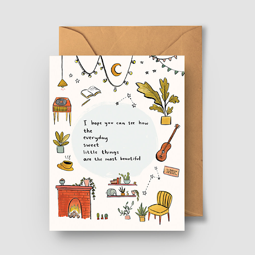 Abbie Ren Illustration - I Hope You Can See Card