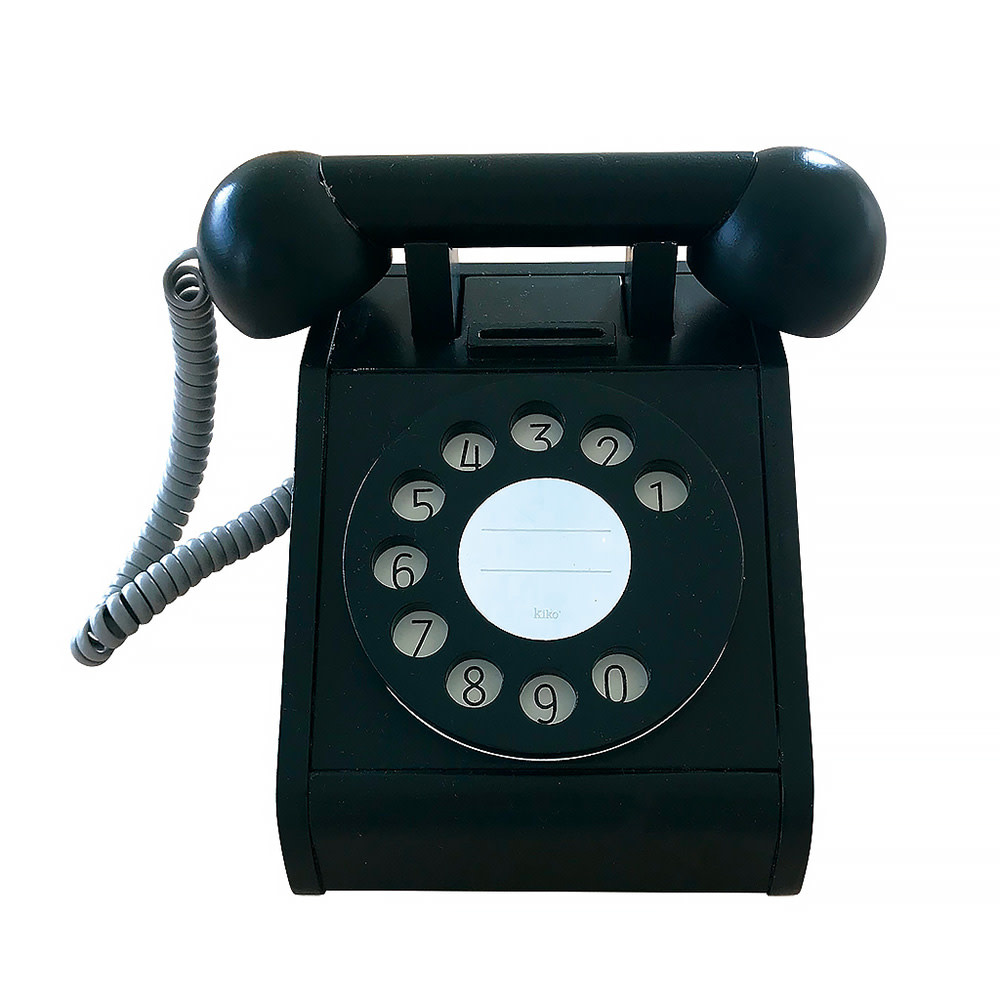 Kiko+ & gg* Toy Telephone - Black