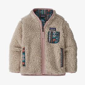 Patagonia Patagonia Baby Retro-X Jacket - Natural/Fuzzy Mauve