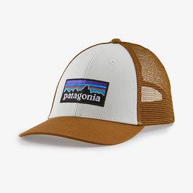 Patagonia Patagonia Trucker Hat LoPro - P6 Logo - White/Brown Bear