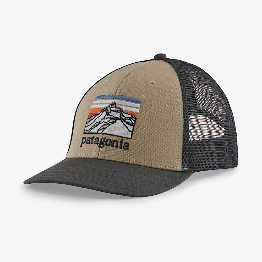 Patagonia Trucker Hat LoPro - Line Logo Ridge - El Cap Khaki