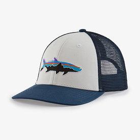 Patagonia Patagonia Trucker Hat LoPro - Fitz Roy Fish Tarpon: Tidepool Blue