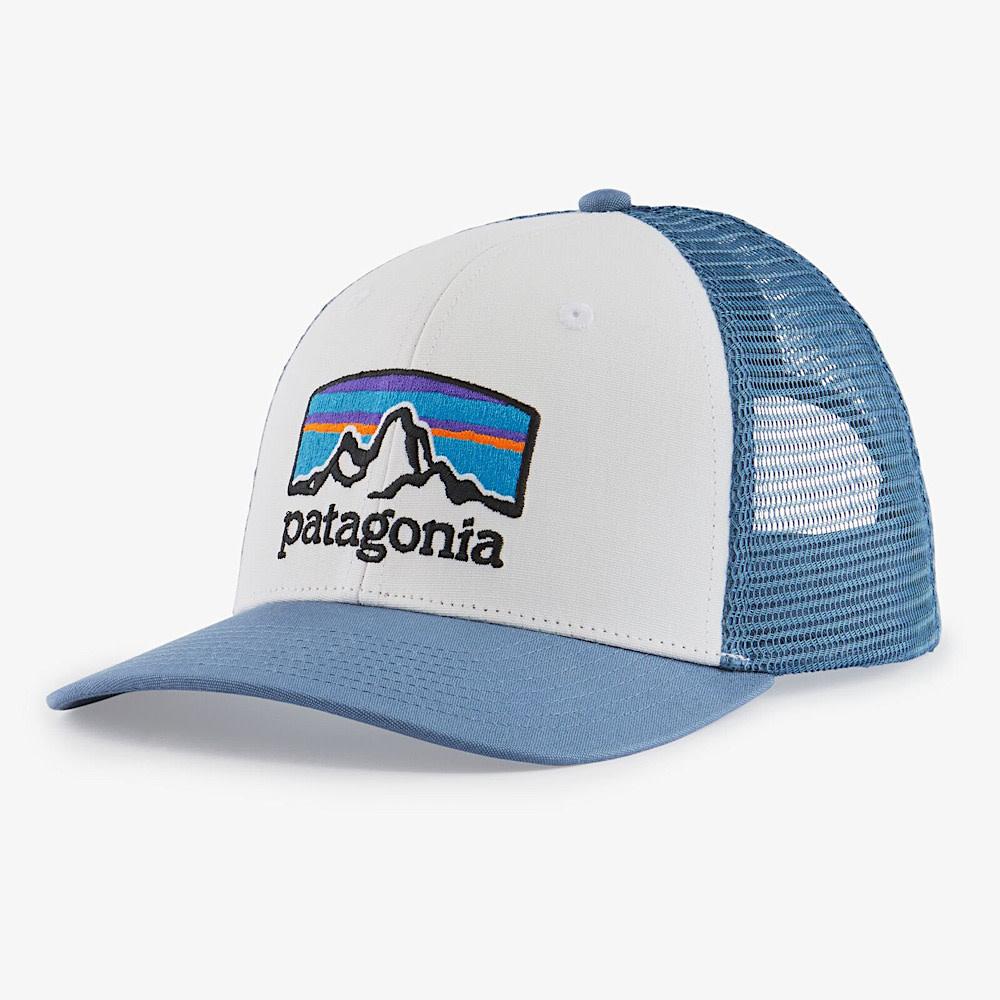 Patagonia Trucker Hat - Fitz Roy Horizons - White/Pigeon Blue