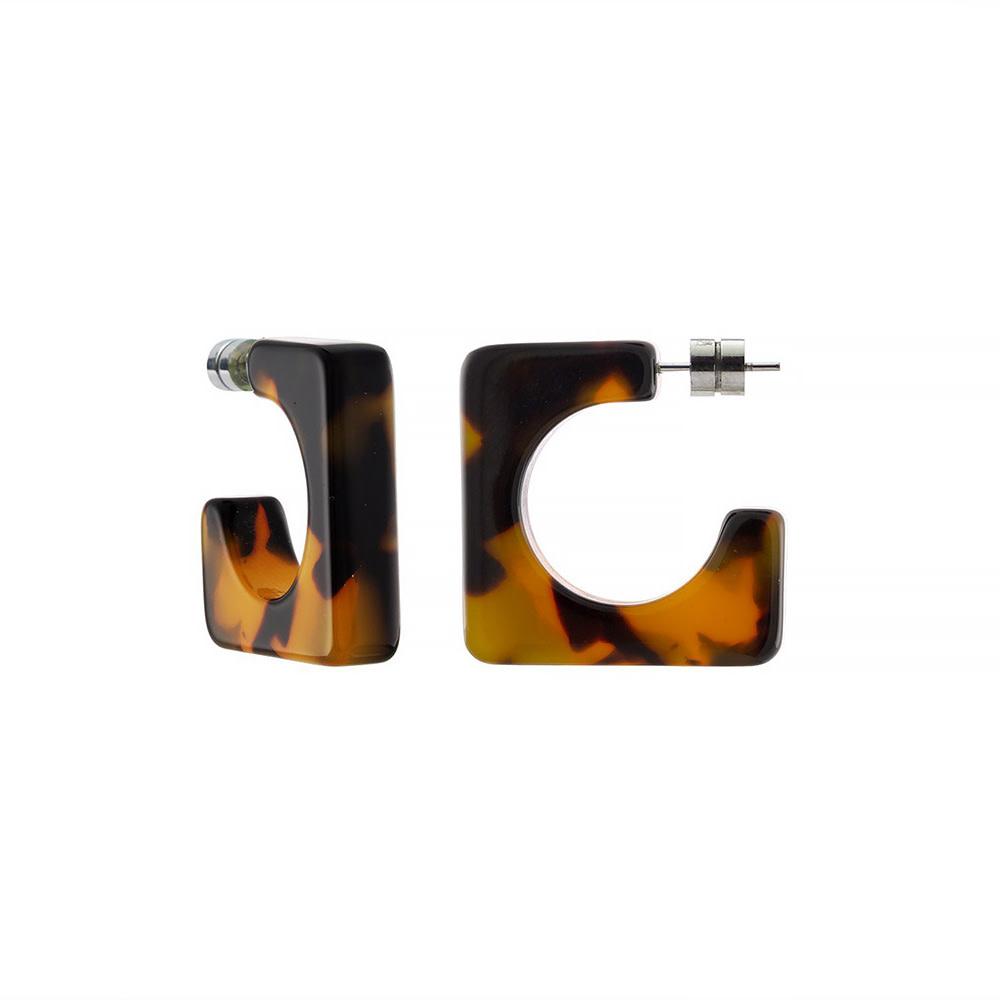 Machete Machete - Atlas Hoop Earrings - Classic Tortoise