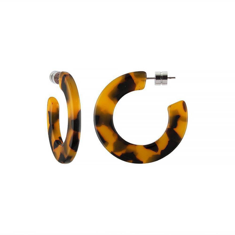Machete Machete - Kate Hoop Earrings - Classic Tortoise
