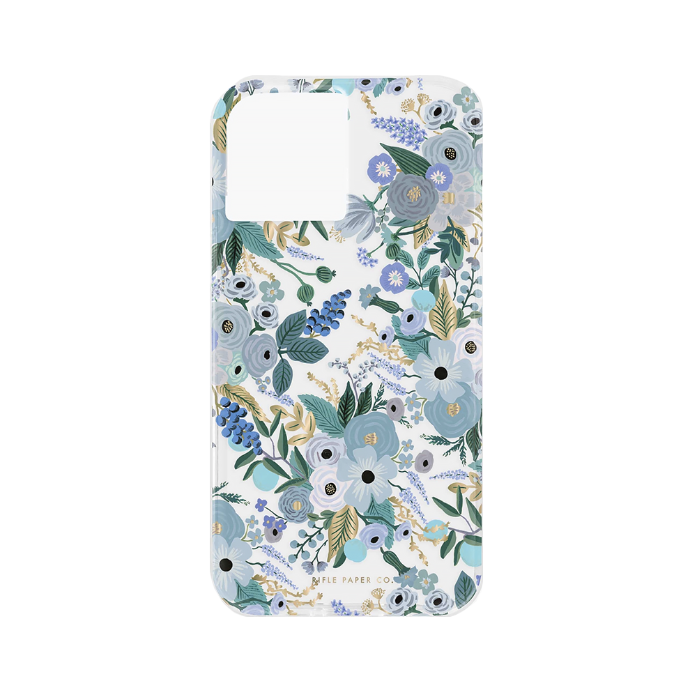 Rifle Paper Co. Rifle Paper Co. iPhone 12 Pro Max - Clear Garden Party Blue