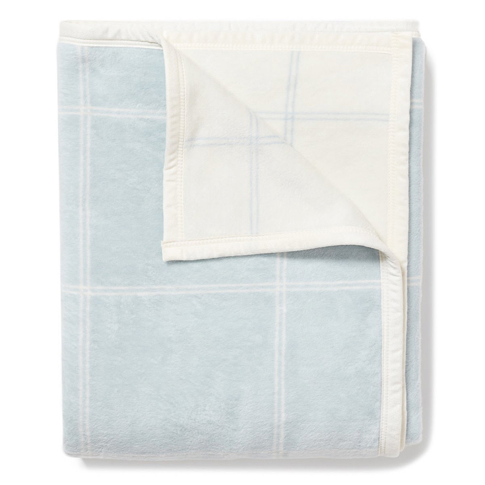 Chappywrap Blanket - Classic Plaid Light Blue