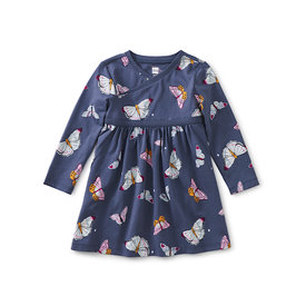 Tea Collection Tea Collection Wrap Neck Baby Dress - Butterfly