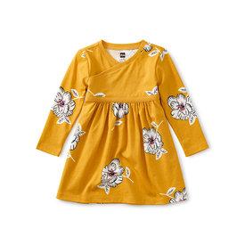 Tea Collection Tea Collection Wrap Neck Baby Dress - Peruvian Flora