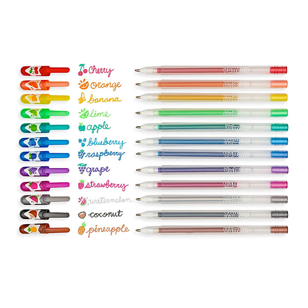 Yummy Scented Glitter Gel Pens Set