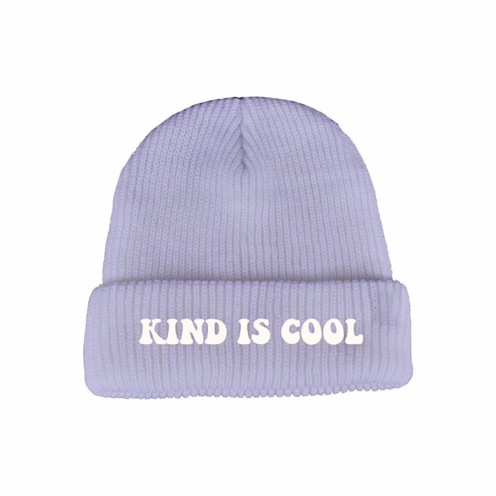 Tiny Whales Kind Is Cool Beanie - Lavender