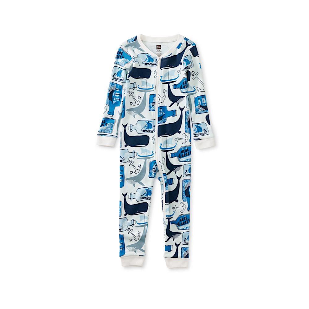 Tea Collection Tea Collection Long Sleeve Baby Pajamas - Maritime