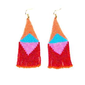 Altiplano Altiplano Beaded Graphic Fringe Earrings - Fiesta