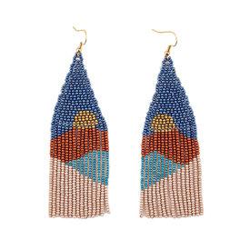 Altiplano Altiplano Vista Beaded Fringe Earrings - Multi Bronze