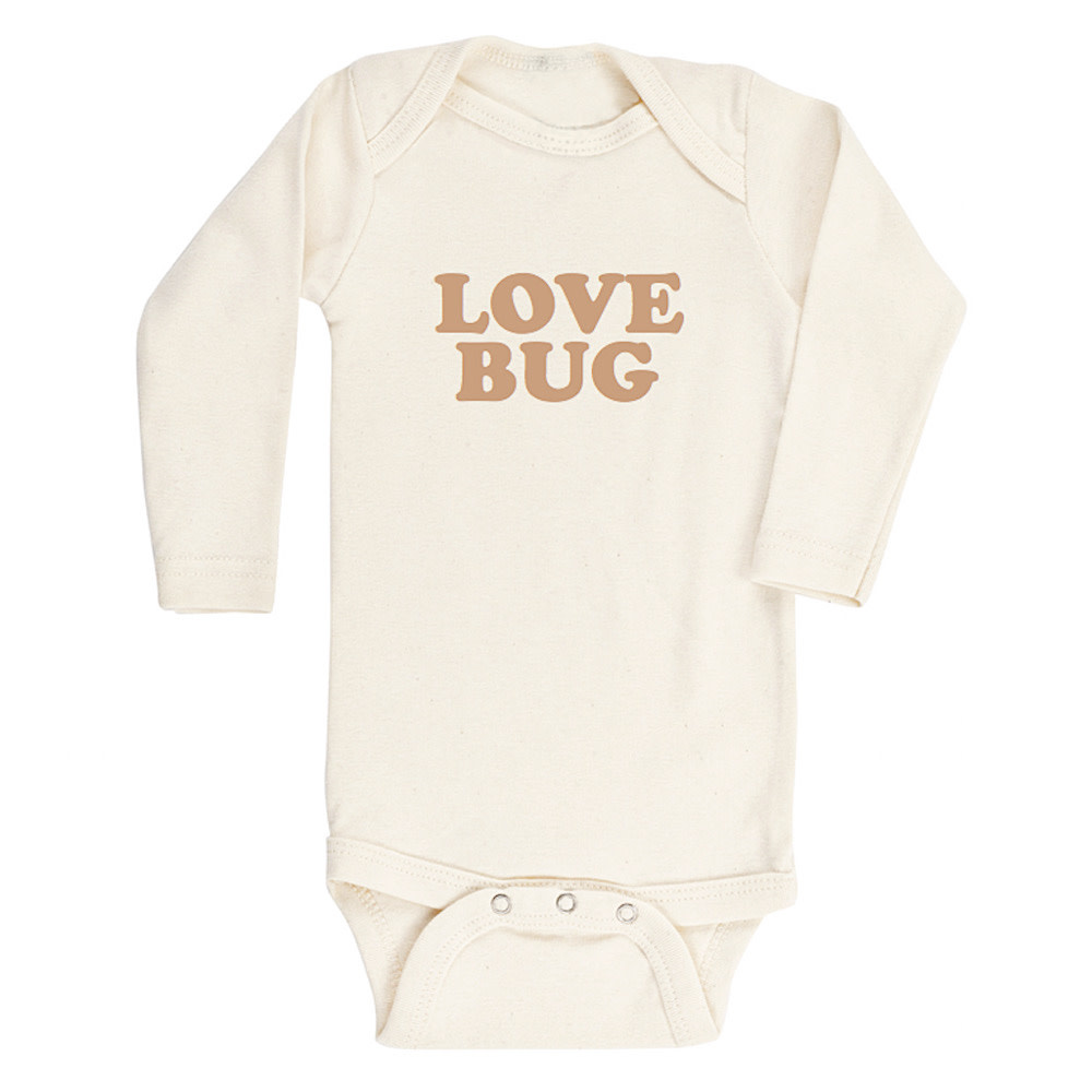 Tenth & Pine Long Sleeve Bodysuit - Love Bug - Clay