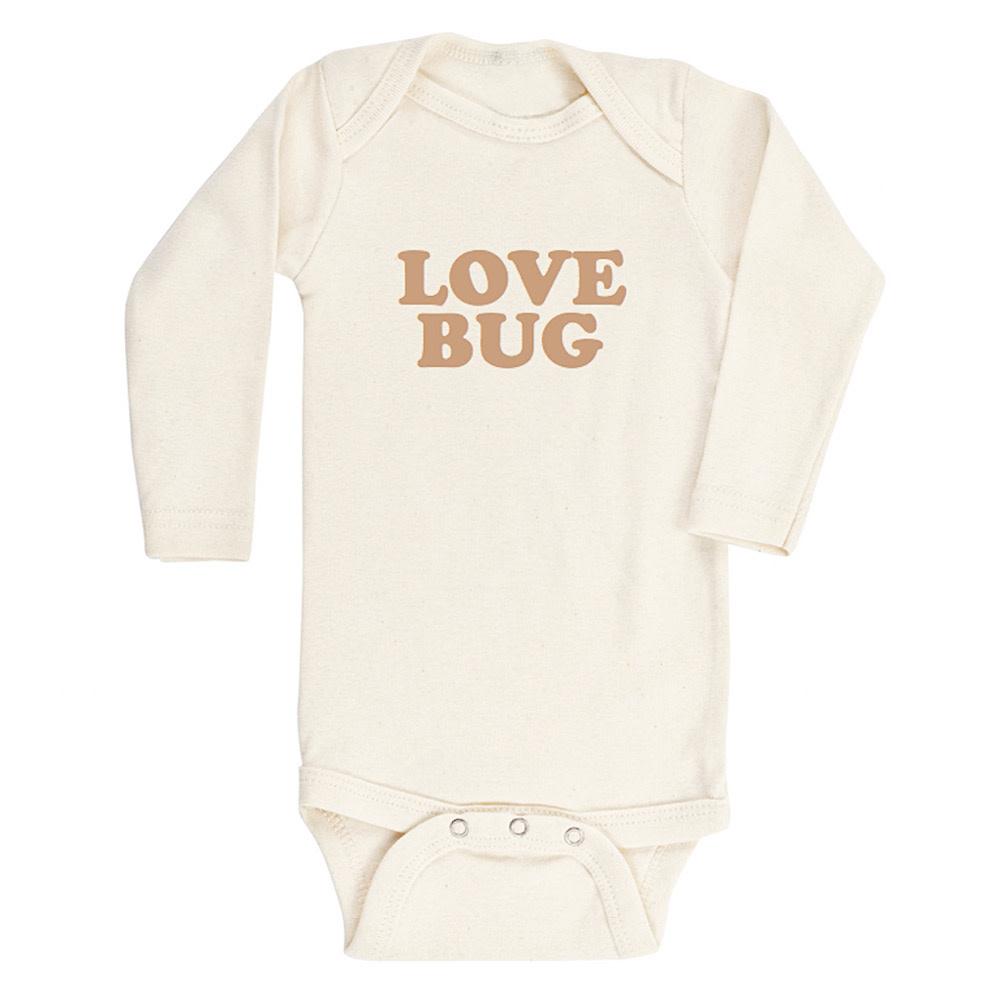 Tenth & Pine Tenth & Pine Long Sleeve Bodysuit - Love Bug - Clay