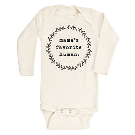 Tenth & Pine Tenth & Pine Long Sleeve Bodysuit - Mamas Favorite Human - Black