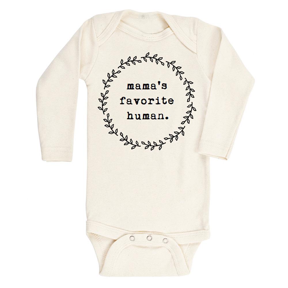 Tenth & Pine Long Sleeve Bodysuit - Mamas Favorite Human - Black