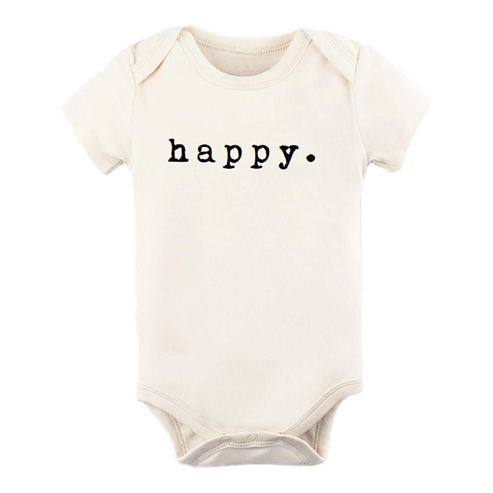 Tenth & Pine Short Sleeve Bodysuit - Happy - Black