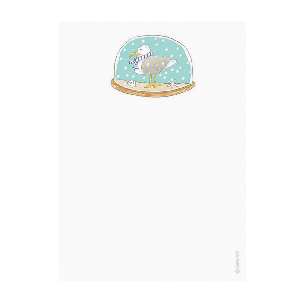 Sara Fitz Notepad - Snow Globe
