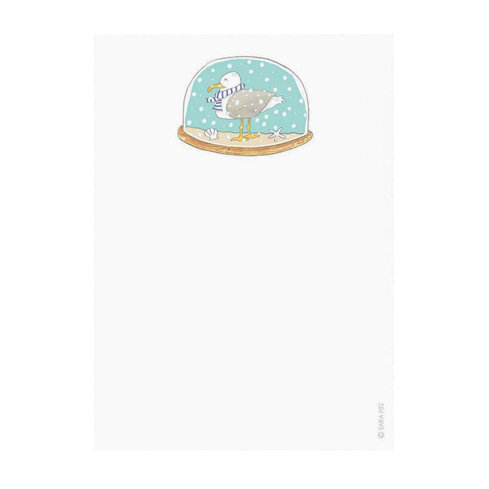 Sara Fitz Sara Fitz Notepad - Snow Globe
