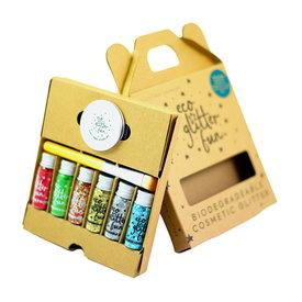 Eco Glitter Eco Glitter 6 pack - Frozen, Christmas, Verde, Golden & Silver Uber Disco Ball,  Rojo Blends